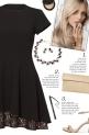How to wear a Lace Hemline A-Line Dress!