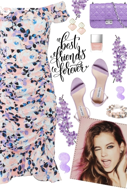 How to wear an Off Shoulder Floral Ruched Dress!