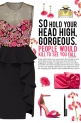 How to wear a Floral Illusion Peplum Dress!