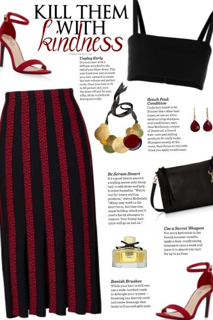 How to wear a Split Pleated Midi Skirt!