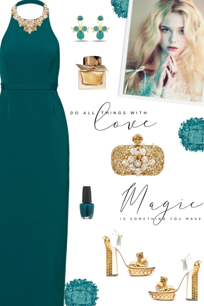 How to wear a Beaded Halter Gown!