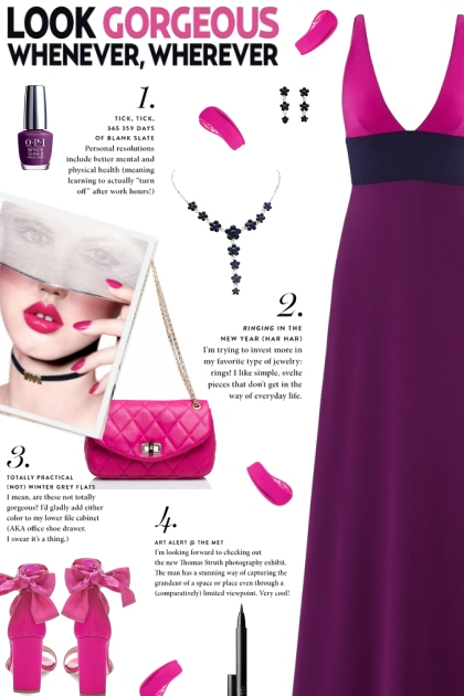 How to wear a Color Block V-Neck Gown!