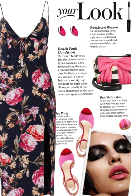 How to wear a Corset Floral Sheath Dress!