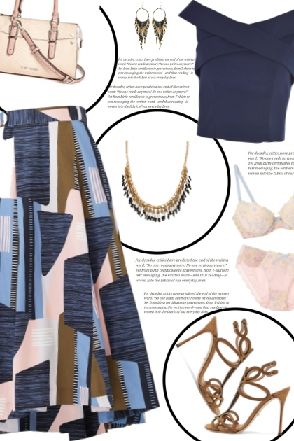 How to wear a Printed Swing Midi Skirt!
