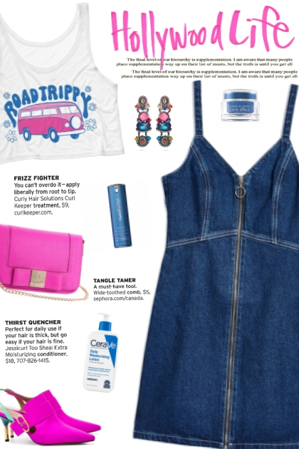 How to wear a Denim Front Zipper Mini Dress!