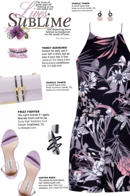 How to wear a High Neck Floral Playsuit!