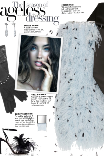 How to wear a One Shoulder Feather Dress!