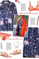 How to wear a Floral Silk Pajama Set!