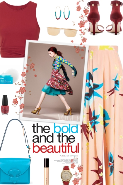 How to wear a Printed Silk Palazzo Pants!