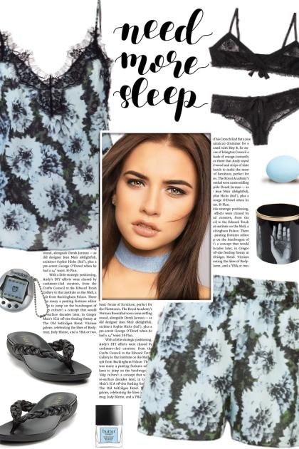 How to wear a Lace Trim Pajama Set!