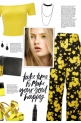 How to wear a Floral Print High Waisted Trousers!