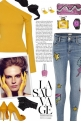 How to wear a Sequin Embroidered Skinny Jeans!