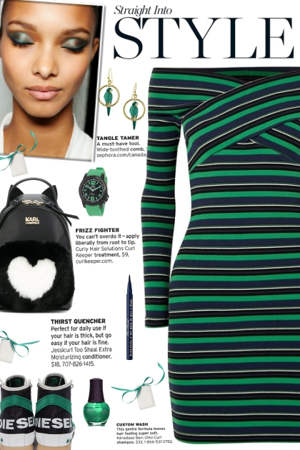 How to wear a Ribbed Striped Off Shoulder Dress!