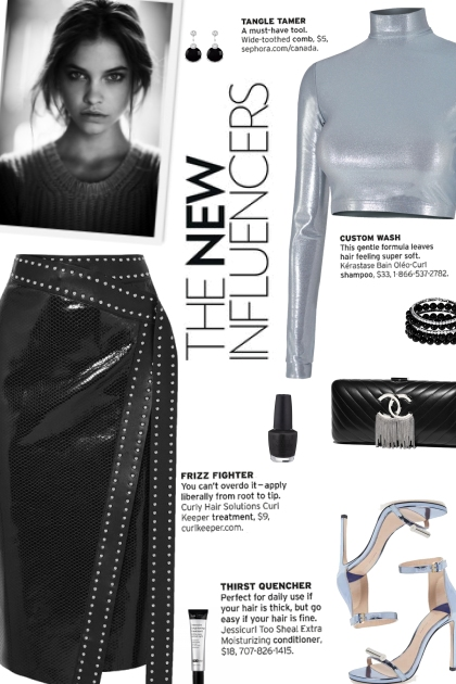 How to wear a Studded Snake-Effect Skirt!
