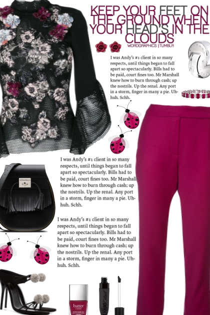 How to wear a Mesh Detailed Floral Blouse!