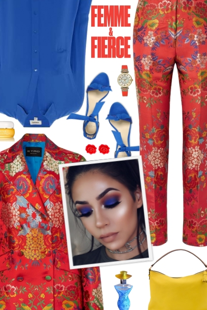 How to wear Co-Ord Satin Floral Blazer & Trouser!