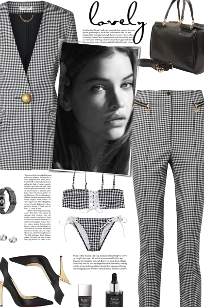 How to wear a Gingham Co-Ord Blazer and Trouser!
