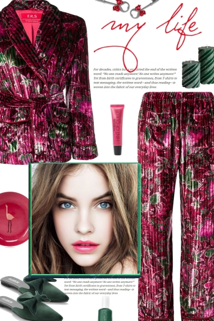 How to wear a Co-Ord Velvet Pajama Set!