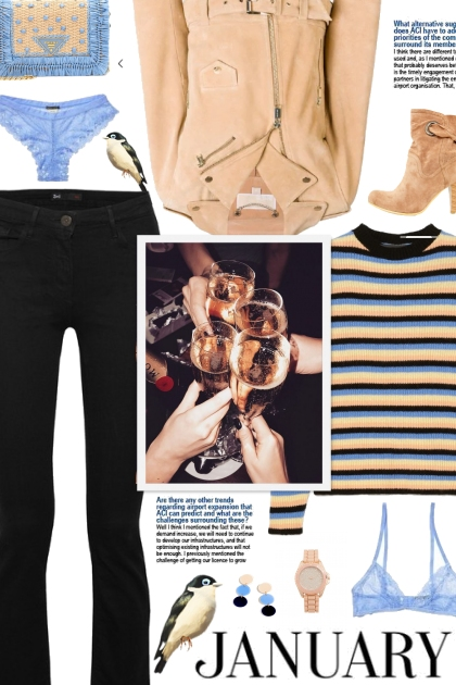 How to wear Striped Cashmere Long Sleeve Sweater!