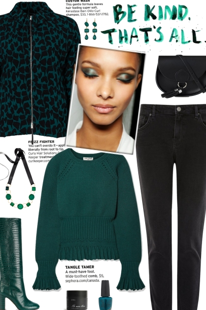 How to wear a Ruffled Detailed Fine Knit Sweater!