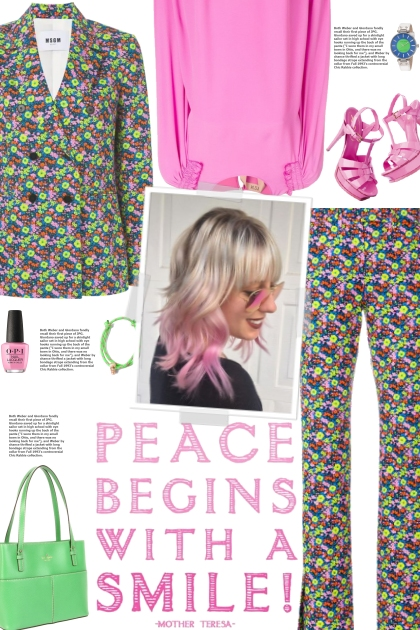 How to wear a Co-ord Multicolored Floral Suit!