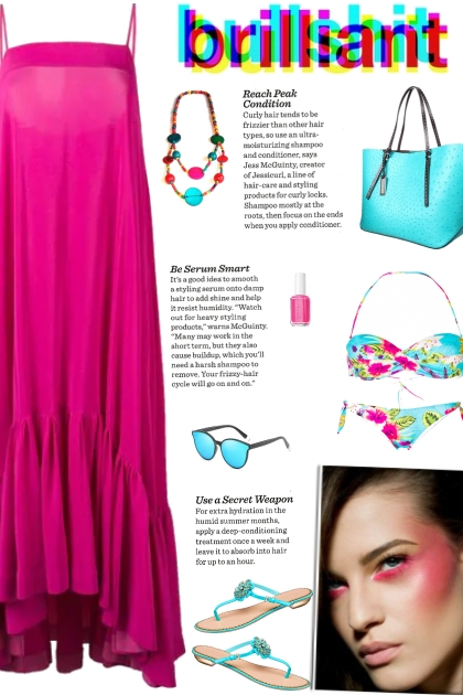 How to wear a Floral Patterned Bandeau Bikini Set