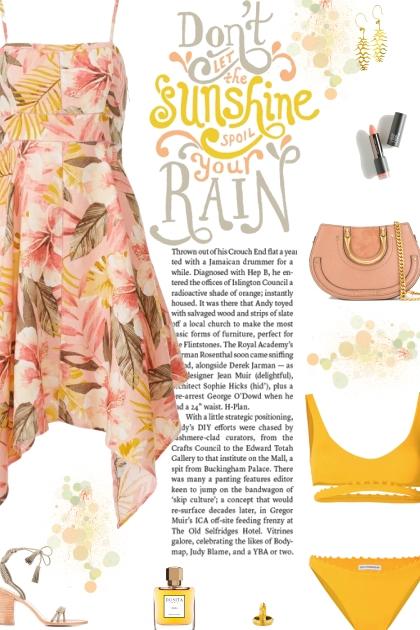 How to wear Floral Printed Hankercheif Hem Dress!
