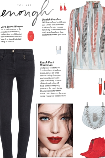 How to wear a Striped Embroidered Turtleneck!