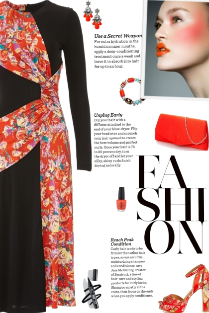 How to wear a Draped Floral Sash Dress!