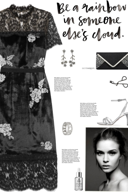 How to wear a Lace-Panelled Embellished Dress!