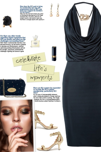 How to wear a Cowl Neck Halter Neck Dress!