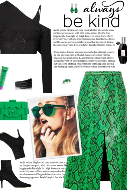 How to wear a Snake-Effect Leather Midi Skirt!