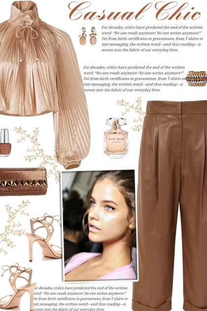 How to wear a Cropped Wide-Leg Leather Pants!