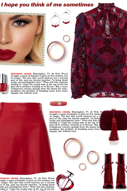 How to wear a Leather A-line Mini Skirt!