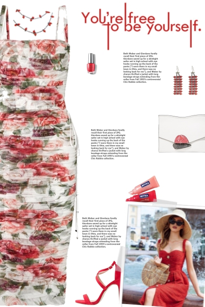 How to wear a Lace-Up Ruched Floral Dress!