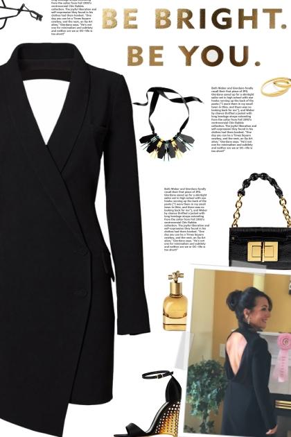 How to wear an Asymmetrical Tuxedo Dress!