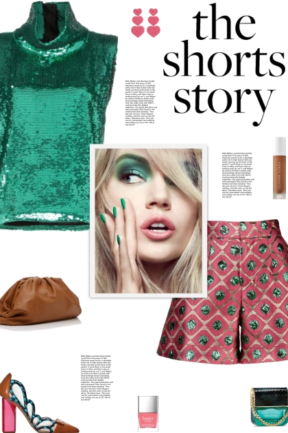How to wear Sequined Detailed High Rise Shorts!