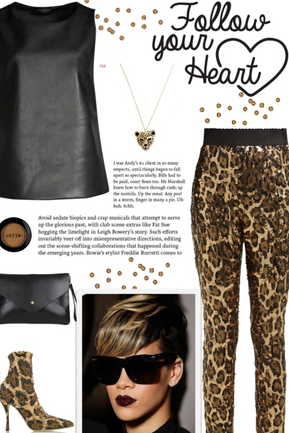 How to wear Leopard Patterned Sequin Trouser!