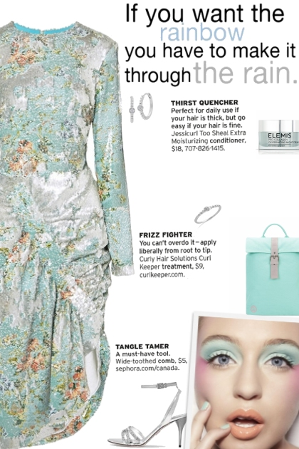 How to wear a Floral Print Ruched Sequined Dress!