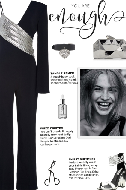 How to wear a Metallic One Shouldered Jumpsuit!