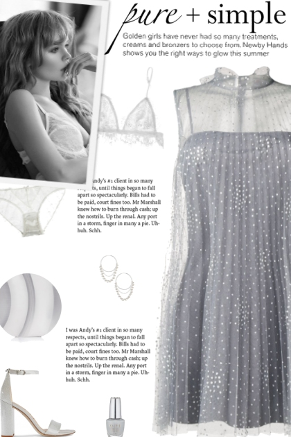 How to wear an Embellished Tulle Mini Dress!