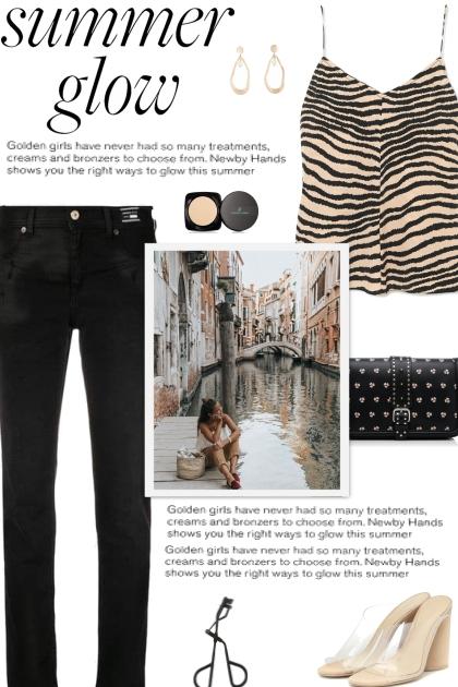 How to wear a Zebra Print Camisole!- Fashion set