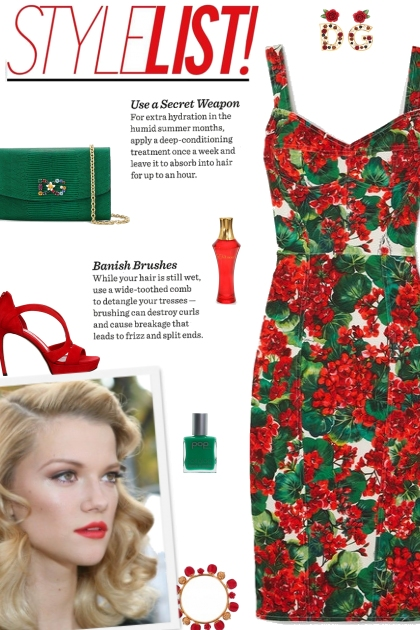 How to wear a Floral Printed Stretch Cady Dress!