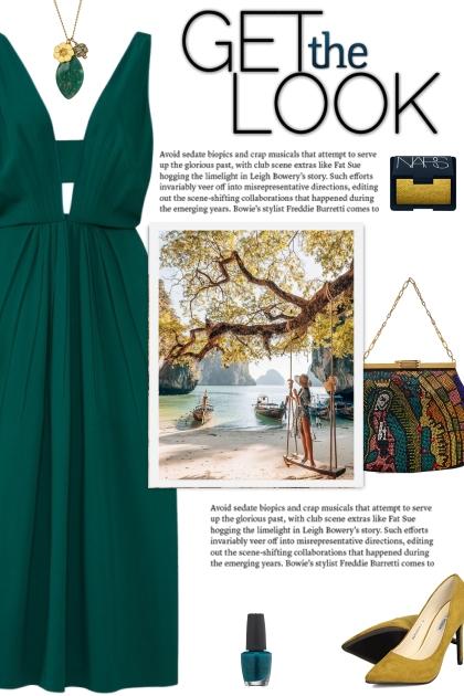 How to wear a Plunging-Neckline Flowy Midi Dress!