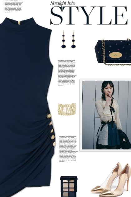 How to wear Button Embellish Highneck Mini Dress!