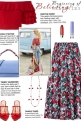How to wear an A-Line Floral Midi Skirt!