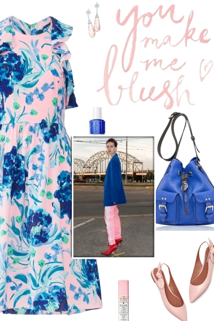 How to wear a Ruffled Sleeve Floral Dress!