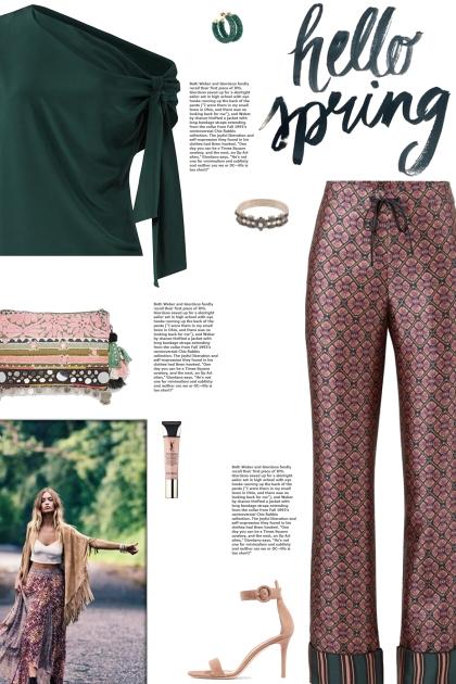 How to wear a Printed Pyjama Pants!- Modna kombinacija