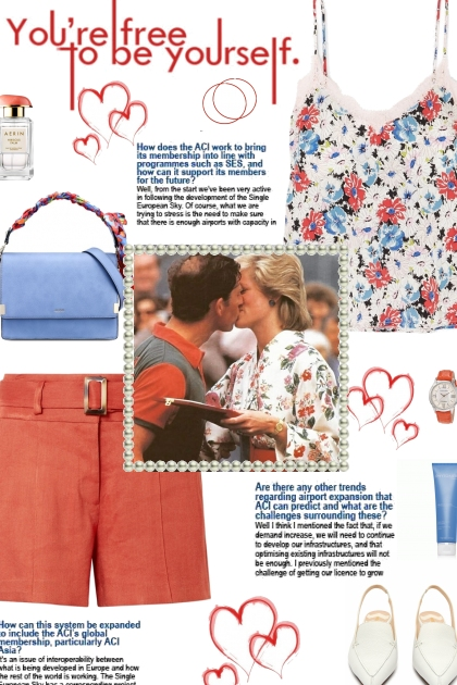 How to wear a Belted Linen Shorts!- 搭配