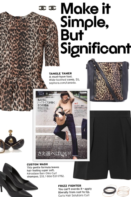 How to wear a Shirred Leopard-Print Peplum Blouse!